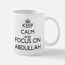 Keep Calm and Focus on Abdullah Mugs