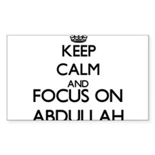 Keep Calm and Focus on Abdullah Decal