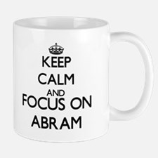 Keep Calm and Focus on Abram Mugs
