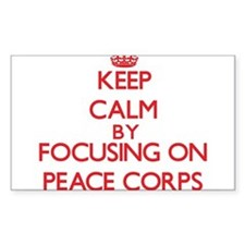 Keep Calm by focusing on Peace Corps Decal