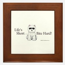 Life's Short Westie Framed Tile