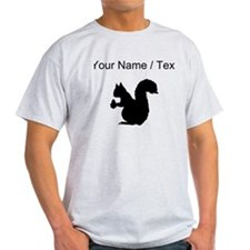 Squirrel Silhouette (Custom) T-Shirt