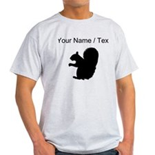 Squirrel Silhouette (Custom) T-Shirt