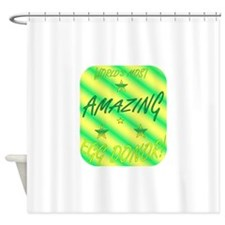 Worlds Most - ED.png Shower Curtain