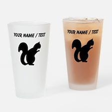 Squirrel Silhouette (Custom) Drinking Glass