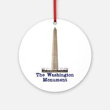 The Washington Monument Ornament (Round)