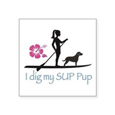 SUP Pup Girl Sticker