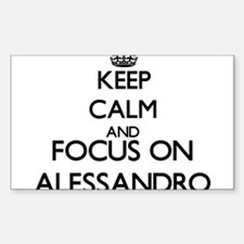 Keep Calm and Focus on Alessandro Decal