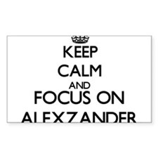 Keep Calm and Focus on Alexzander Decal