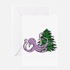 Octi Tree Greeting Cards