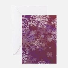 Purple Winter Greeting Cards