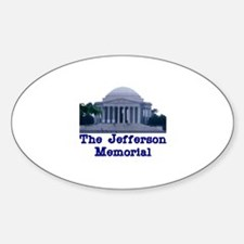 The Jefferson Memorial Oval Decal
