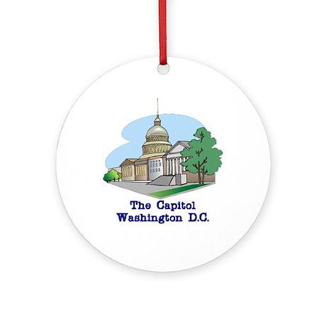 The Capitol . . . Washington Ornament (Round)