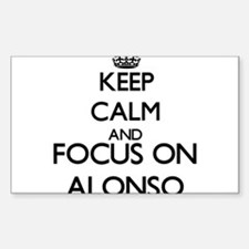Keep Calm and Focus on Alonso Decal