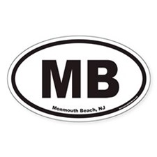 Monmouth Beach MB Euro Oval Stickers