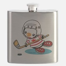 Ice Hockey Penguin (1) Flask