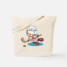 Ice Hockey Penguin (1) Tote Bag