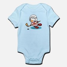 Ice Hockey Penguin (1) Infant Bodysuit