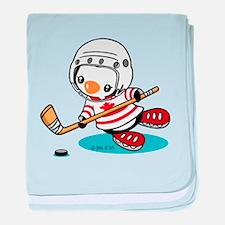 Canada Ice Hockey (1) baby blanket