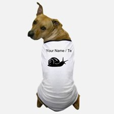 Snail Silhouette (Custom) Dog T-Shirt