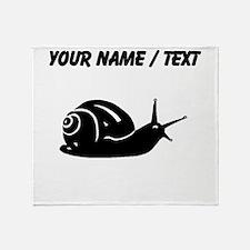 Snail Silhouette (Custom) Throw Blanket