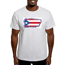 Puerto Rico Flag Ash T Shirt