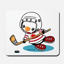 Ice Hockey Penguin (1) Mousepad