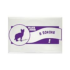Make Sokoke Rectangle Magnet