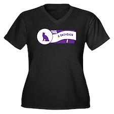 Make Snowshoe Women's Plus Size V-Neck Dark T-Shir
