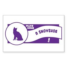Make Snowshoe Rectangle Decal