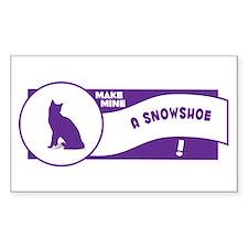 Make Snowshoe Rectangle Decal