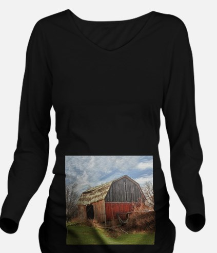Old Barn 1 Long Sleeve Maternity T-Shirt