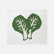 Kale Leaves Throw Blanket