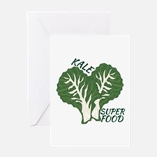 Kale Super Food Greeting Cards
