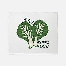 Kale Super Food Throw Blanket