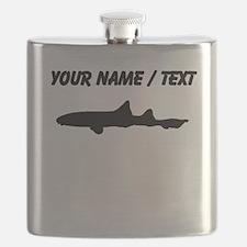 Leopard Shark Silhouette (Custom) Flask