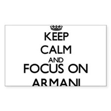 Keep Calm and Focus on Armani Decal