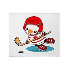 Canada Ice Hockey (2) Throw Blanket