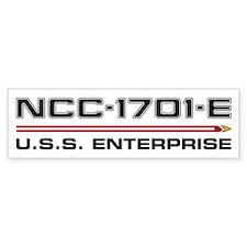 USS Enterprise-E Dark Bumper Car Sticker