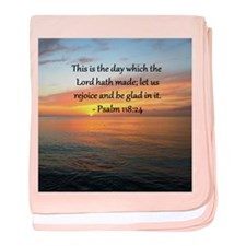 PSALM 118:14 baby blanket