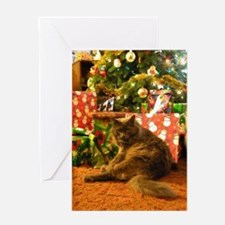 Christmas Kitty Greeting Cards