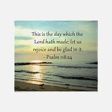 PSALM 118:14 Throw Blanket
