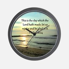 PSALM 118:14 Wall Clock