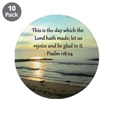 """PSALM 118:14 3.5"""" Button (10 pack)"""