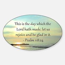 PSALM 118:14 Sticker (Oval)