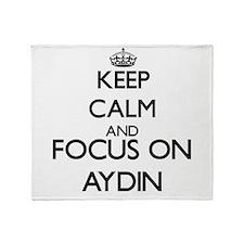 Keep Calm and Focus on Aydin Throw Blanket