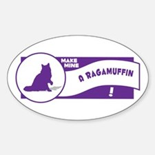 Make Ragamuffin Oval Decal