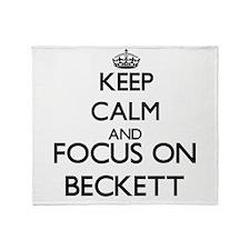 Keep Calm and Focus on Beckett Throw Blanket