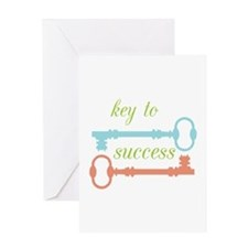 Key To Success Greeting Cards