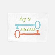 Key To Success 5'x7'Area Rug